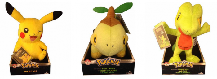 Pokemon Trainer's Choice 8 Basic Plush
