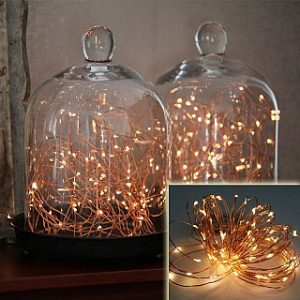 Wireless 9 Foot Waterproof Micro LED String Lights with Timer