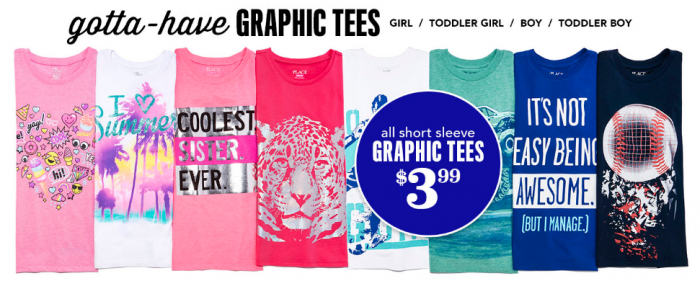 childrens place graphic tees