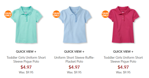 childrens place polos