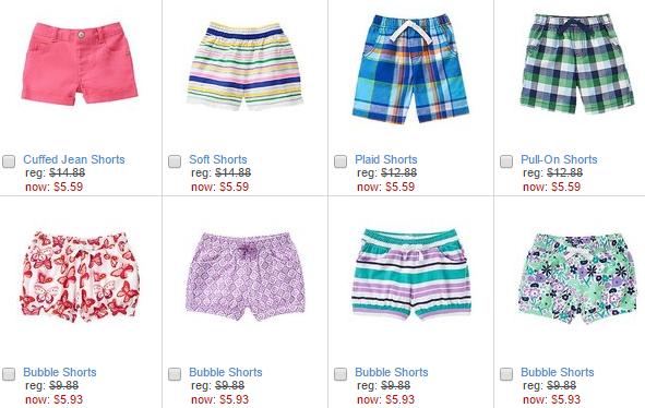 crazy 8 shorts