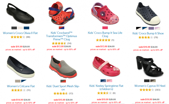 b7ecdd71279 *Kids & Adult Shoes* Up to 60% Off during the End of Season Clearance Sale  at Crocs!
