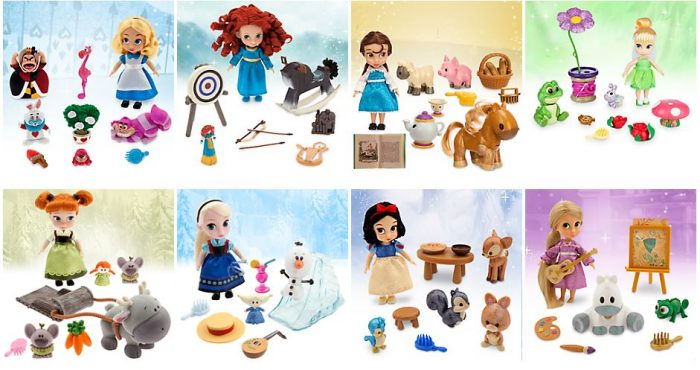 disney store Mini Animators' Doll Play Sets