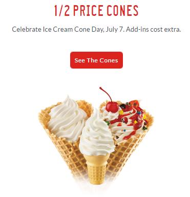 sonic half price cones