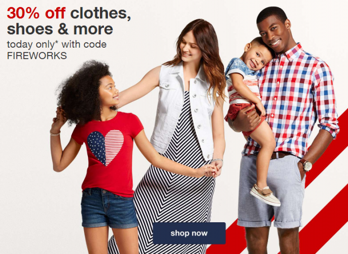 target 30 off clothes