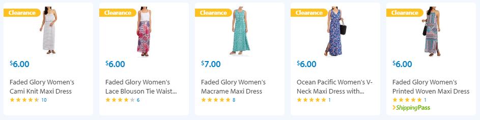 walmart clearance dresses