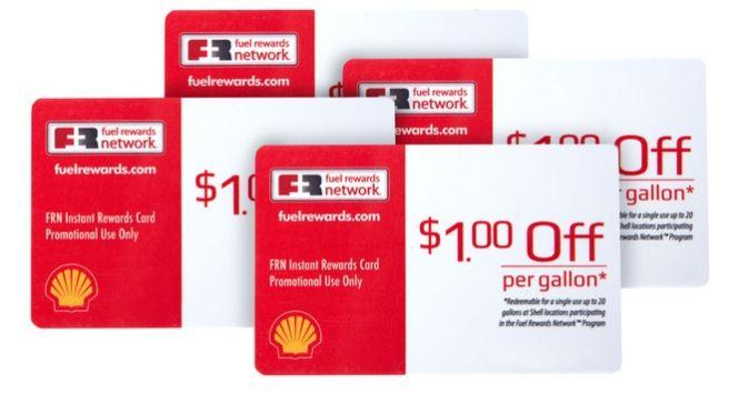 4-Pack of Fuel Rewards Cards Good