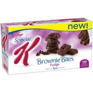 6 Boxes of Kellogs Special K Mini Fudge Brownies