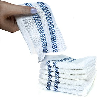 6 Pack of 100% Cotton Popcorn Weave Wash Cloths