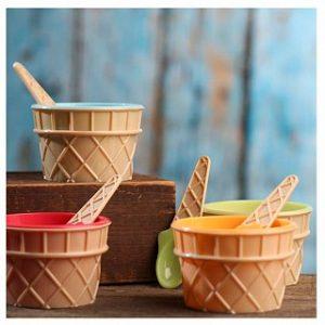 8 Piece Ice Cream Bowl and Spoon Set