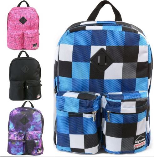 Alpine Swiss double front pcket backpack