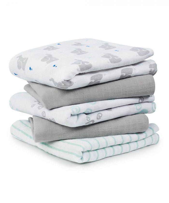Baby Star Muslin Blanket - Set of Five