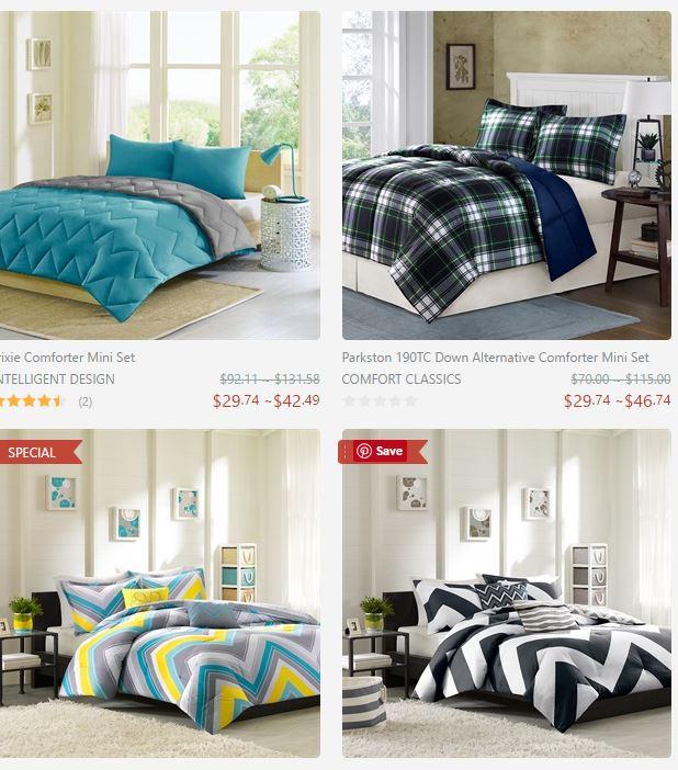 Capture comforters