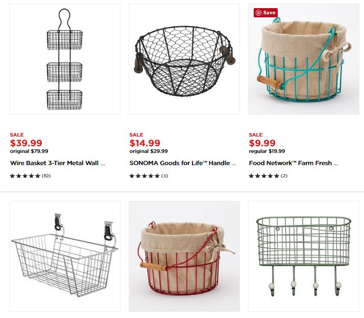 Capture wire baskets