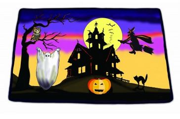 Halloween Scary Cackling Witch Sounds Decorative Doormat