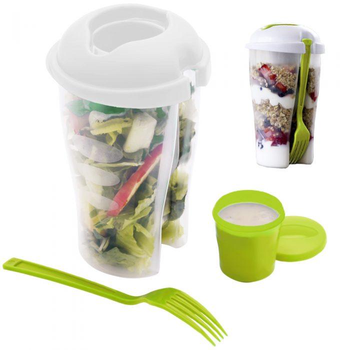Home Basics 3 Piece Salad-To-Go Container Set