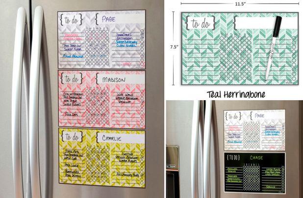 Kids Dry Erase Chore Chart Magnet + Marker