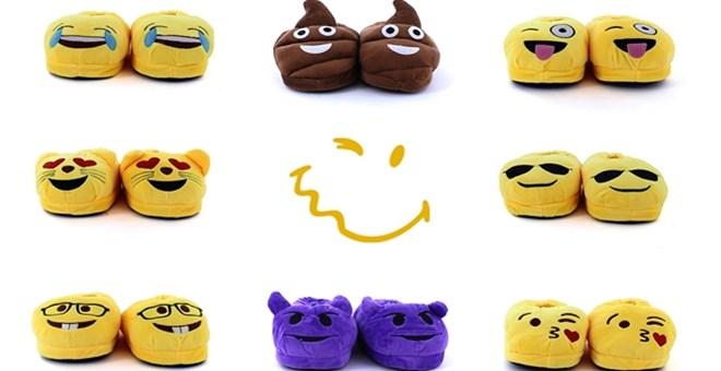 Kids Emoji Slippers