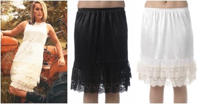 Lace Skirt Extender Slip