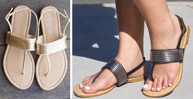 Metallic Sandal Clearance