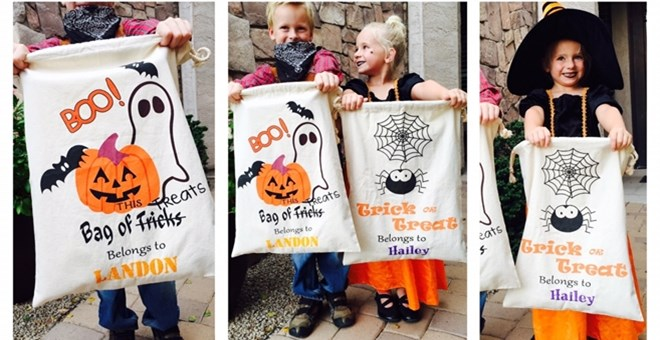 Halloween Trick Or Treat Bags Personalized.Personalized Drawstring Trick Or Treat Bag 10 99 Reg 21