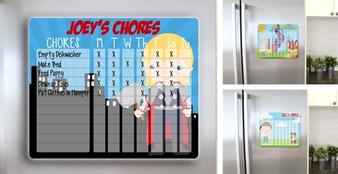 Personalized Dry Erase Chore Chart