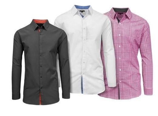 Slim Fit Woven Dress Shirt