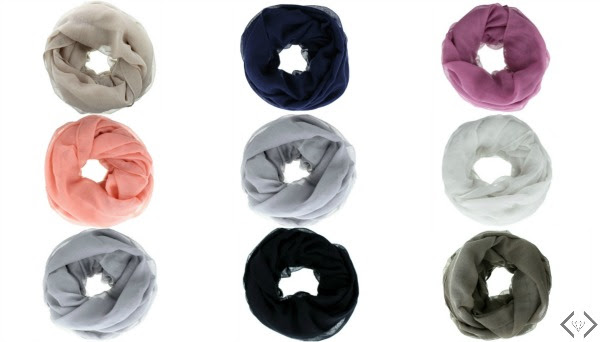 Solid Color Infinity Scarf in a 3 Pack