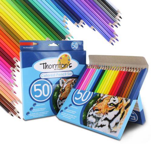 Thornton's Art Supply Premier 50 Piece Colored Pencils