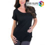 Women's Extra Long Short Sleeve Tunic