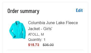columbia fleece jacket summary