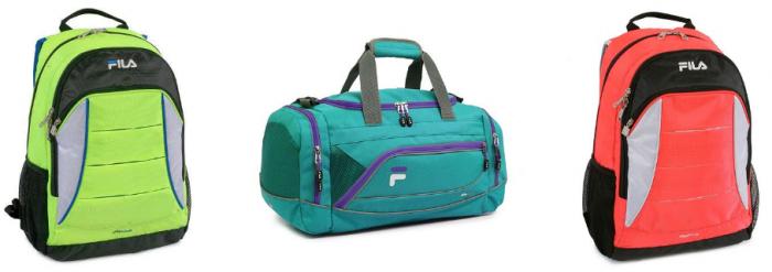 fila backpacks and duffel bags