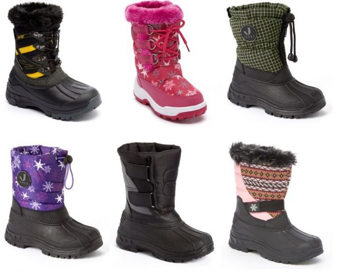 kids cold weather winter boots