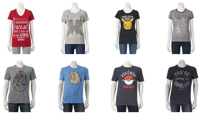 13eb1464 Juniors & Guys Graphic Tees for $5.60 Shipped! *Includes Harry Potter,  Disney, Pokemon, More!* TODAY ONLY! – Utah Sweet Savings
