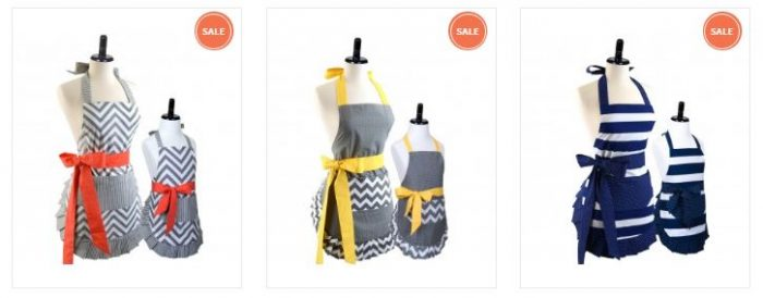 mommy & me matching aprons
