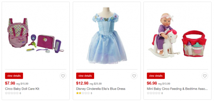 target toy clearance girls