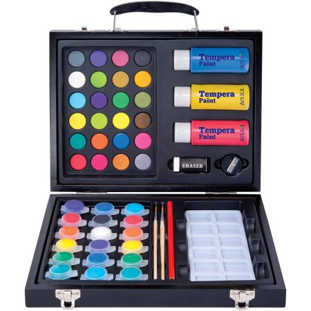 art-101-52-piece-deluxe-art-and-washable-paint-set-in-wood-case