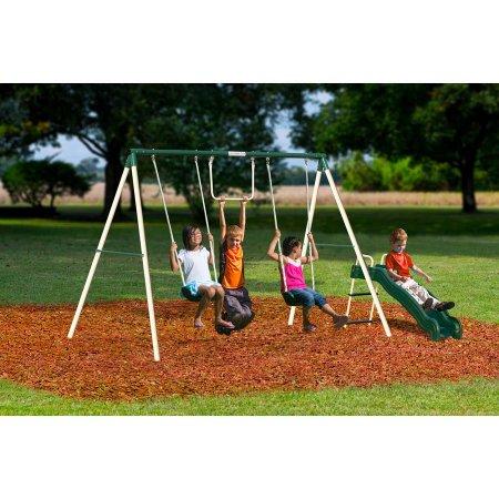 Flexible Flyer Outside Fun Ii Metal Swing Set For 69 99 Reg