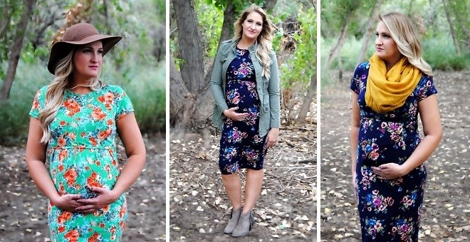 floral-maternity-nursing-dress