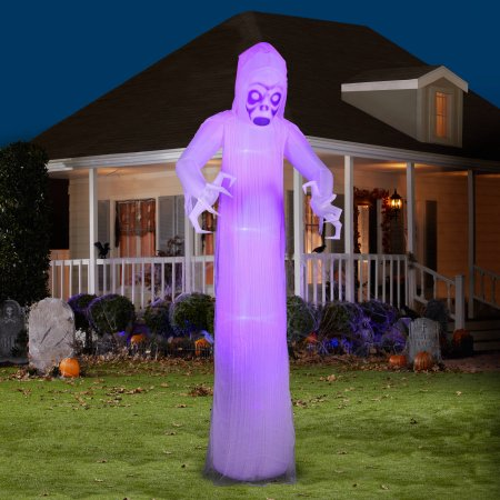 Giant black light ghost halloween yard decoration for 64 for Air blown decoration