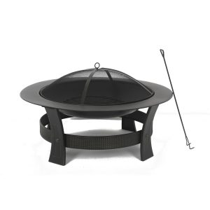 Painted Steel Wood-Burning Fire Pit