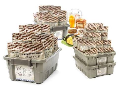 Patriot Pantry Food and Water Survival Bundles