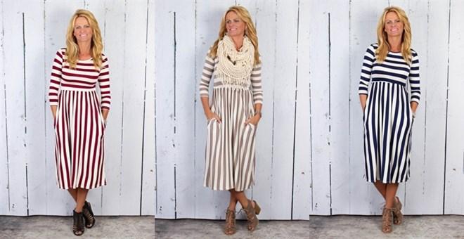 striped-midi-dress