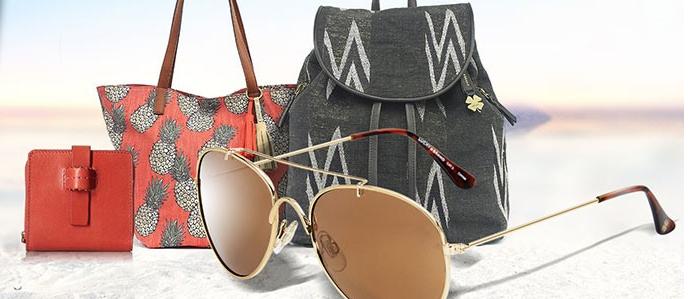 lucky handbags and glasses