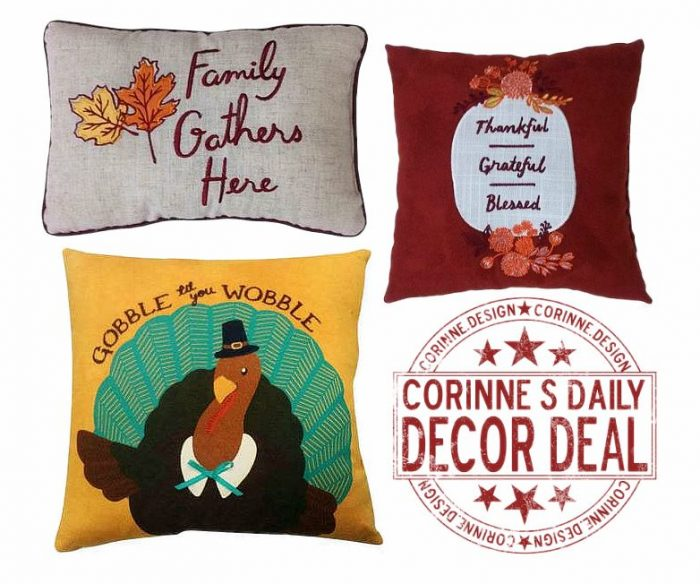 Thanksgiving Throw Pillows $6.29 (regularly $17.99) Free Shipping with Kohl s Card ? Utah Sweet ...