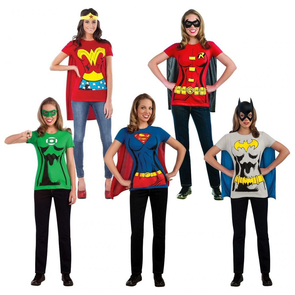 This would make such an easy Halloween Costume too that you can wear all day even to your kiddou0027s school!  sc 1 st  Utah Sweet Savings & Female Superhero Costumes Adult T-Shirt $16.99 (reg $28.99) u2013 Utah ...