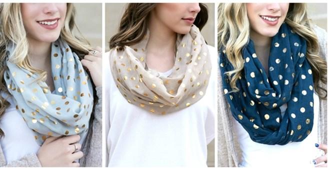 gold-dot-infinity-scarves