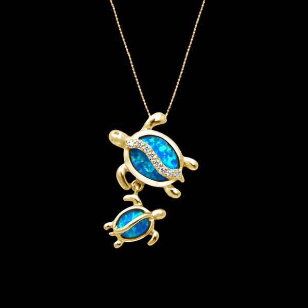 gold-tone-mother-daughter-opal-inlay-cz-turtle-necklace