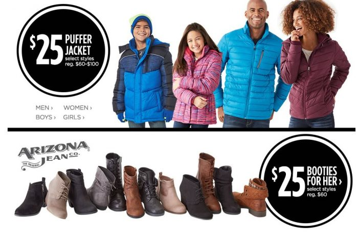 fad841f6104c JCPenney  10 off  25 Coupon! Puffer Coats  15