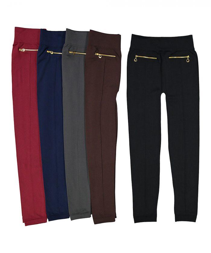zipper-accent-fleece-lined-leggings